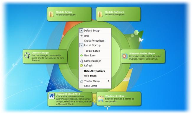 Gizmo Toolbar - Imagem 5 do software