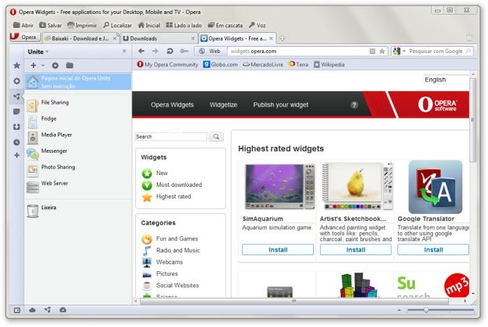 Opera@USB - Imagem 2 do software