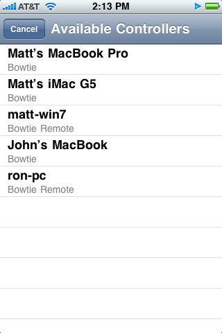 Bowtie Remote - Imagem 2 do software