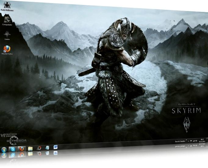 The Elder Scrolls Skyrim Windows 7 Theme