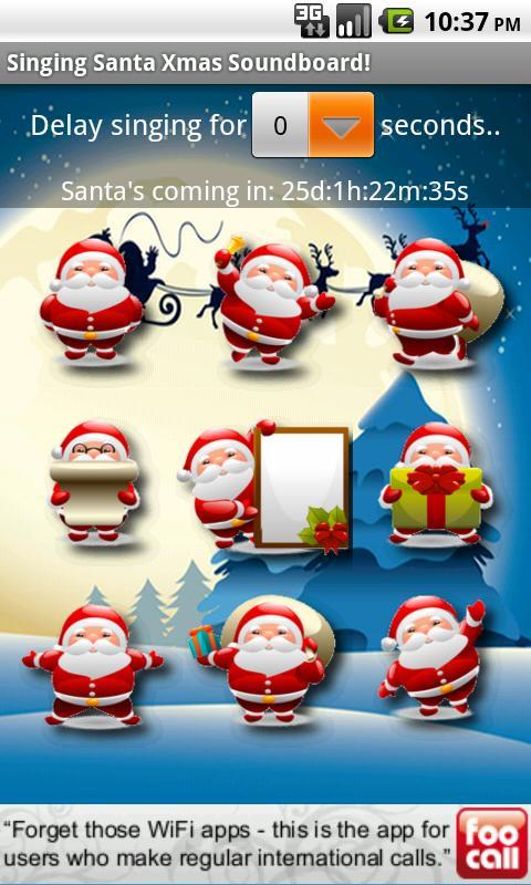 Singing Santa Xmas Soundboard