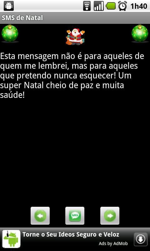 SMS de Natal - Imagem 2 do software