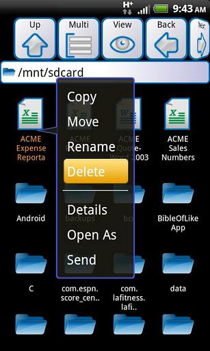 ASTRO File Manager - Imagem 6 do software