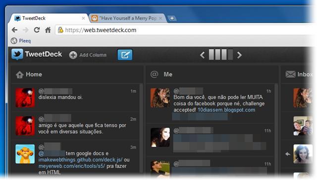 TweetDeck no Chrome está de cara nova!