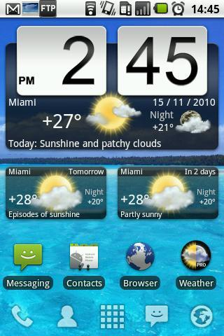 Animated Weather Widget, Clock - Imagem 1 do software