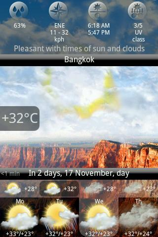 Animated Weather Widget, Clock - Imagem 2 do software