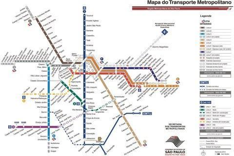 Mapa Metrô de Sao Paulo - Imagem 1 do software