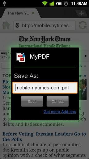Web to PDF - Imagem 2 do software