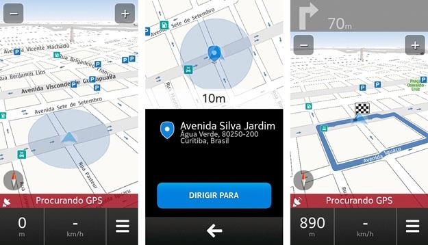 Imagens do GPS