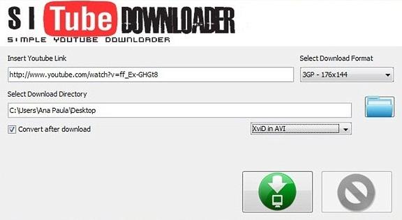 Inserindo dados de download