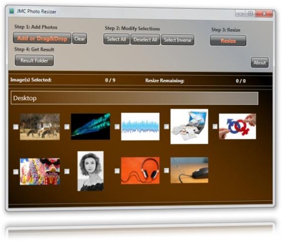 JMC Photo Resizer - Imagem 1 do software