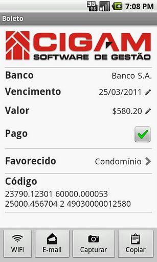 CIGAM Boletos - Imagem 2 do software