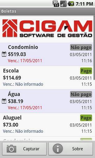 CIGAM Boletos - Imagem 1 do software