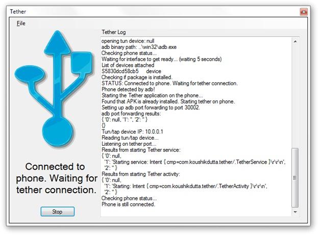 ClockworkMod Tether - Imagem 3 do software