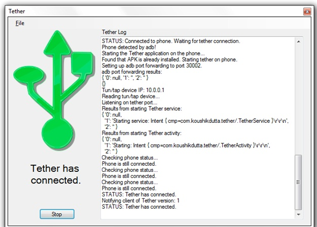 ClockworkMod Tether - Imagem 1 do software