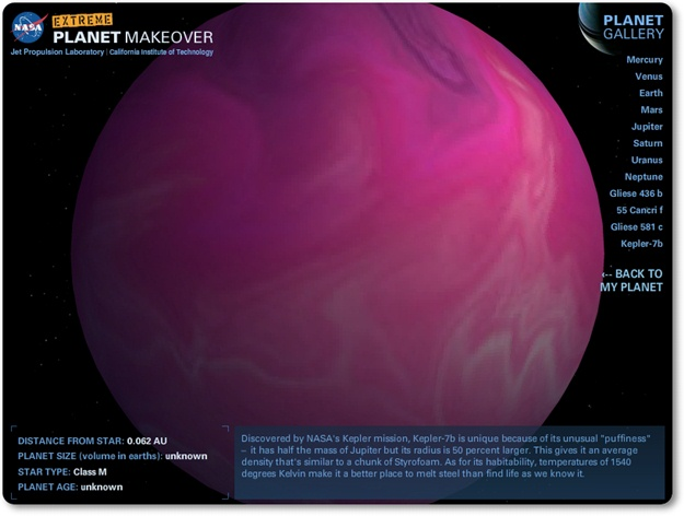 Extreme Planet Makeover - Imagem 3 do software