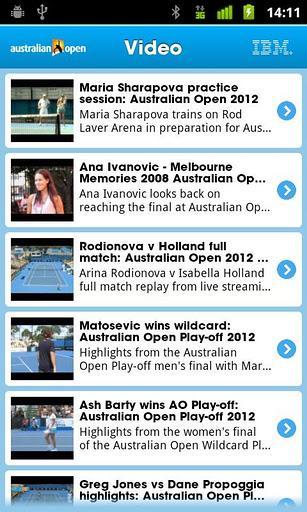 2012 Australian Open - Imagem 1 do software