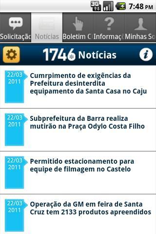 1746 Rio - Imagem 2 do software