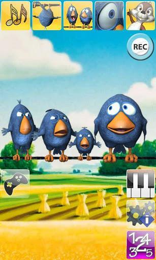 Pássaros falantes no fio - Imagem 1 do software