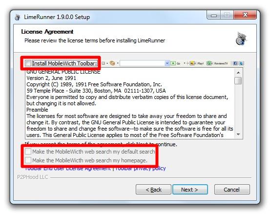 LimeRunner - Imagem 2 do software