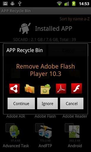 App Lixeira Lite - Imagem 2 do software