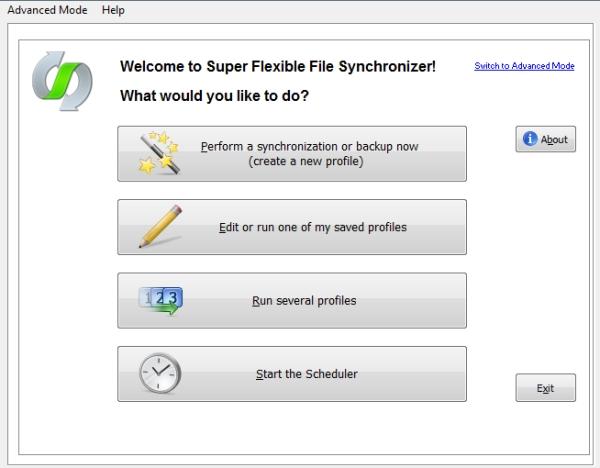Super Flexible File Synchronizer - Imagem 1 do software