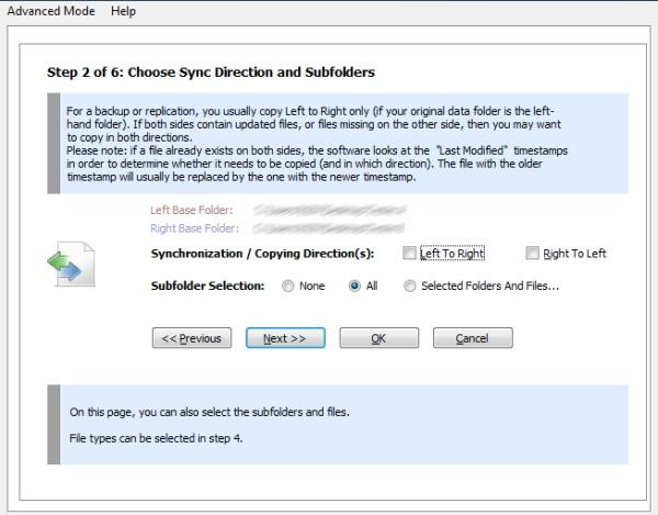 Super Flexible File Synchronizer - Imagem 3 do software