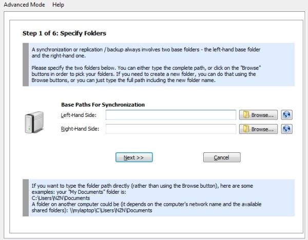 Super Flexible File Synchronizer - Imagem 2 do software