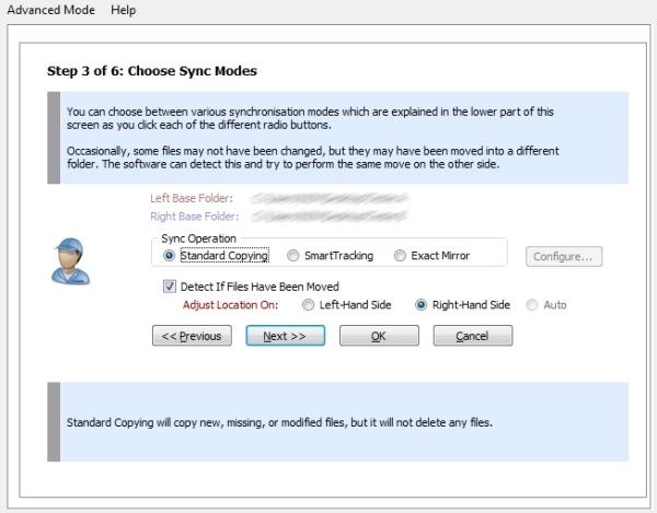 Super Flexible File Synchronizer - Imagem 4 do software