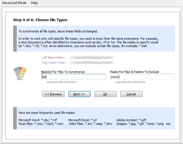 Super Flexible File Synchronizer - Imagem 5 do software