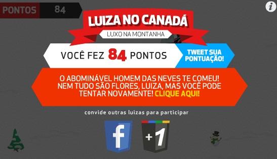 Luiza no Canadá - Imagem 2 do software