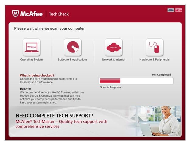 McAfee TechCheck - Imagem 1 do software