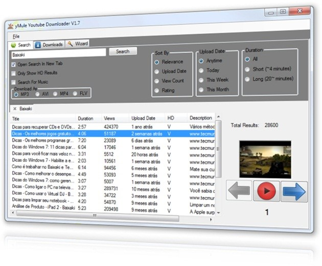 yMule Youtube Downloader.