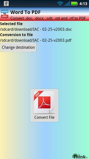 Word To PDF (doc, docx) - Imagem 1 do software