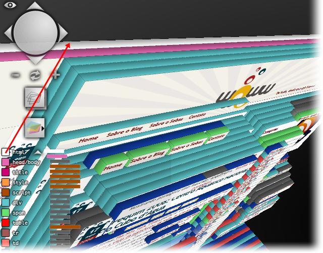 Cada cor corresponde a um elemento do site