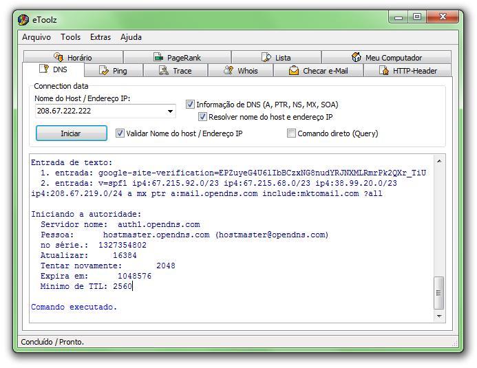 Detalhes sobre o DNS