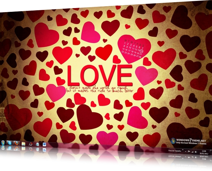 Love Windows 7 Theme