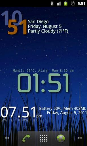 Advanced Clock Widget - Imagem 1 do software