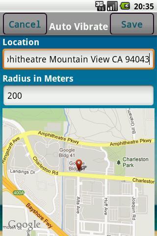 Auto Vibrate (Location & Time) - Imagem 2 do software