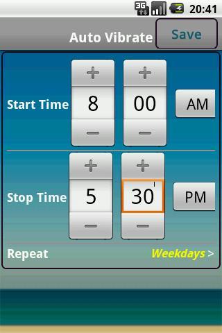Auto Vibrate (Location & Time) - Imagem 3 do software