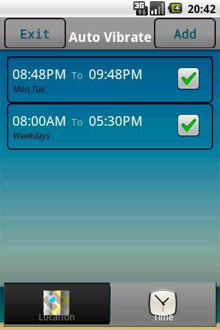 Auto Vibrate (Location & Time) - Imagem 4 do software