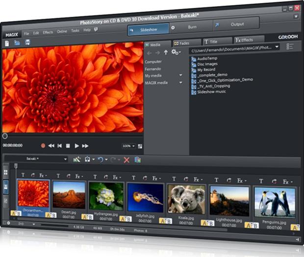 MAGIX PhotoStory em DVD MX - Imagem 1 do software
