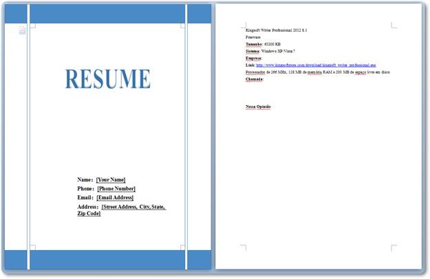 Kingsoft Writer Professional 2012 - Imagem 3 do software