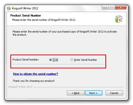 Kingsoft Writer Professional 2012 - Imagem 1 do software