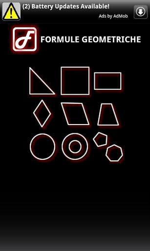 Fórmulas Geométricas - Imagem 2 do software