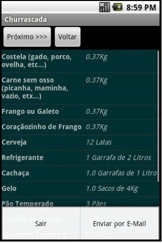 Calculadora para Churrasco - Imagem 2 do software