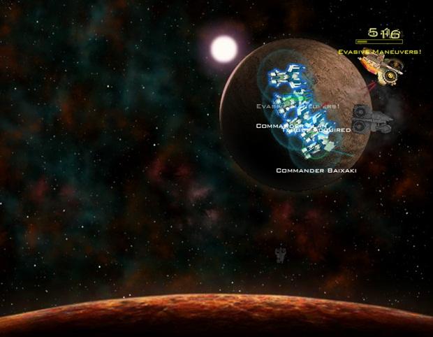 Ataque as naves inimigas e destrua a frota alien.