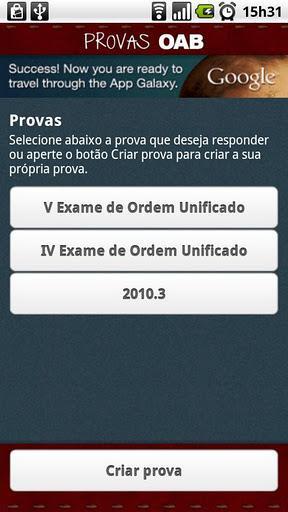 Provas OAB - Imagem 1 do software