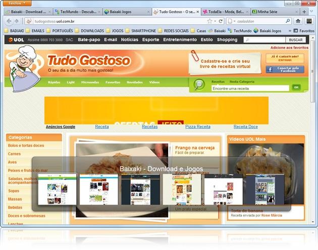 Tabsflip para Mozilla Firefox - Imagem 1 do software