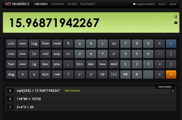 Numerics Calculator & Converter - Imagem 2 do software